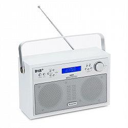 Auna Akkord, biele, digitálne rádio, prenosné, DAB+/PPL-FM, rádio, budík, LED