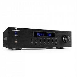 Auna AV2-CD850BT, 4-zónový stereo zosilňovač, 8 x 50 W RMS, bluetooth, USB, CD, čierny