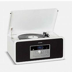 Auna Bella Ann, stereo systém, gramofón, rádio, DAB+/FM, USB, bluetooth, biely