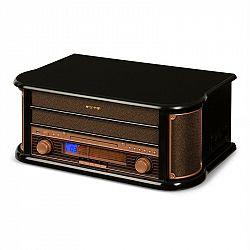 Auna Belle Epoque 1908, retro stereo systém, gramofón, rádio, USB, CD, MP3, mikrosystém
