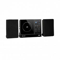 Auna Connect Vertical, internetové rádio, 2 x 5 W RMS, CD, IR/FM/DAB+, Spotify, BT, čierne