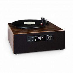 Auna Connect Vinyl Cube, gramofón, 40 W max., internet/DAB+/FM, USB, hnedý
