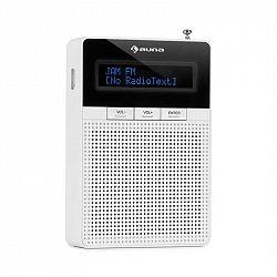 Auna DigiPlug FM, rádio do zásuvky, FM, BT, LCD displej, biele
