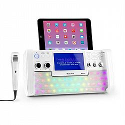 Auna DiscoFever, biely, bluetooth karaoke systém, LED, 7
