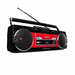 Auna Duke DAB, kazetový magnetofón, rádio, DAB+/FM, BT, USB, SD, teleskopická anténa