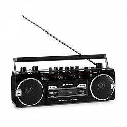 Auna Duke MKII, magnetofón, rádio, BT, USB, SD slot, teleskopická anténa, čierny