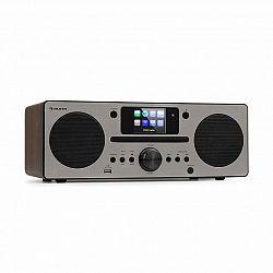 Auna Harvard, kompaktný systém, internetové/DAB+ a UKW-rádio, CD-prehrávač, bluetooth, orech