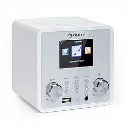 Auna IR-120 internetové rádio, WiFi DNLA UPnP app-control, biela farba
