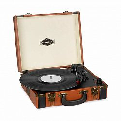 Auna Jerry Lee BT, gramofón, BT, USB, nahrávanie a prehrávanie, hnedý