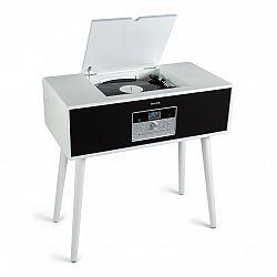 Auna Julie Ann, stereo systém, CD, BT, USB, DAB+/FM, AUX vstup, biely