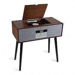 Auna Julie Ann, stereo systém, CD, BT, USB, DAB+/FM, AUX vstup, hnedý