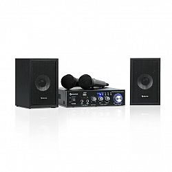 Auna Karaoke Star 2, karaoke sada, 2 x 50 W max., BT, USB/SD, linkový vstup, 2 x mikrofón