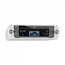 Auna KR-400 CD kuchynské rádio, DAB+/PLL FM rádio, CD/Mp3 prehrávač, biele