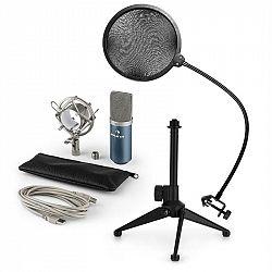 Auna MIC-900BL V2, USB mikrofónová sada, kondenzátorový mikrofón + pop-filter + stolný statív