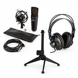 Auna MIC-920B USB mikrofónová sada V1 slúchadlá, kondenzátorový mikrofón, stojan