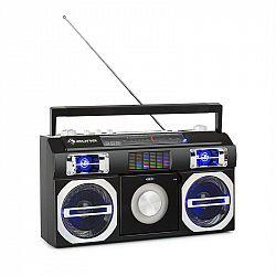 Auna Oldschool, retro prehrávač z 80. rokov, CD, BT, USB, MP3, FM, teleskopická anténa, akumulátor, čierny