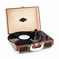 Auna Peggy Sue, retro gramofón, LP, USB, hnedý