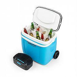 Auna Picknicker Trolley Music Cooler, chladiaci box, kufríkový, 36 l, BT reproduktor, modrý