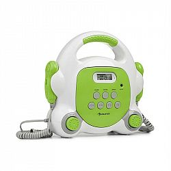 Auna Pocket Rocker BT, karaoke prehrávač, BT, USB-port, MP3, 2x mikrofón, zelený