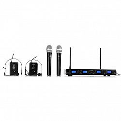 Auna Pro Bezdrôtový mikrofónový set auna Pro UHF-550 Quartett3