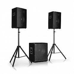 Auna Pro Cube 1812, 2.1 aktívna PA sada, 1600 W, 18