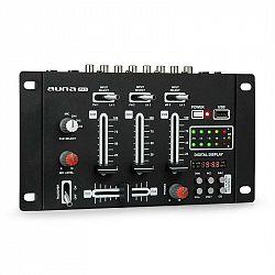 Auna Pro DJ-21 BT DJ-mixér mixážny pult, bluetooth, USB, čierna farba