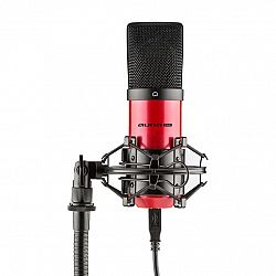 Auna Pro MIC-900-RD, červený, USB, kondenzátorový mikrofón, kardioidný, štúdiový