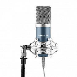 Auna Pro MIC-900BL, modrý, USB, kondenzátorový mikrofón, kardioidný, štúdiový
