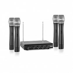 Auna Pro VHF-4-H 4-kanálová VHF mikrofónová sada 4x ručný mikrofón 50m