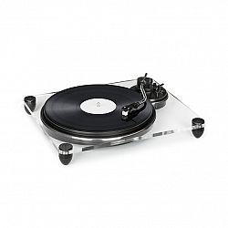 Auna Pureness, gramofón, akryl, 33 1/3 + 45 ot./min., predzosilňovač, transparentný