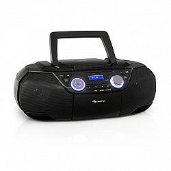 Auna Roadie 2K, boombox, CD prehrávač, kazetové rádio, DAB/DAB+, UKW, bluetooth, čierny