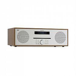 Auna Silver Star CD-DAB, rádio s CD, 2 x 20 W max., štrbinový CD prehrávač, DAB+, BT, Alu, hnedý
