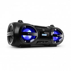 Auna Soundblaster, DAB, Boombox, Bluetooth, CD/MP3/USB/AUX, DAB+/UKW, LED, 50Wmax.