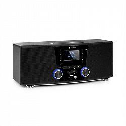 Auna Stockton, mikro stereo systém, max. 20W, DAB+, UKW, CD prehrávač, BT, OLED, čierny