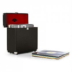 Auna TTS6, čierny, kufor na platne, koža, nostalgický, 30 LP platní