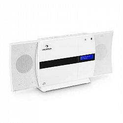 Auna V-20 DAB, vertikálny stereo systém, bluetooth, NFC, CD, USB, MP3, DAB+, biela farba
