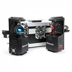 Beamz 3-in1-PocketScan LED Set pozostávajúci z 2 scannerov & flightcase kufríka12W-Cree-LED 7 farieb