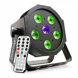 Beamz BFP110 FlatPAR, 5 x 6 W RGB LED diódy, 3-v-1 LED lampy, DMX, IR diaľkový ovládač