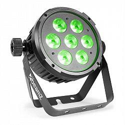 Beamz BT270 LED Flat Par, LED reflektor, 7 x 6 W 4 v 1 LED diód s RGBW, diaľkový ovládač