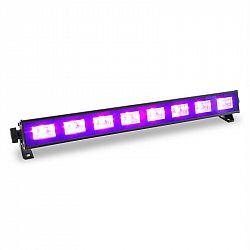 Beamz BUV93, LED bar, čierne svetlo, svetelná lišta so spínačom, 8 x 3 W, UV LED