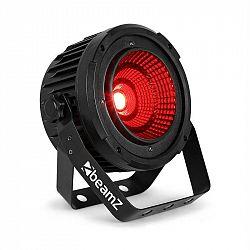 Beamz COB50, LED-svetlomet, 50 W, DMX-/Standalone-Modus, 9 kanálov, DMX, čierny