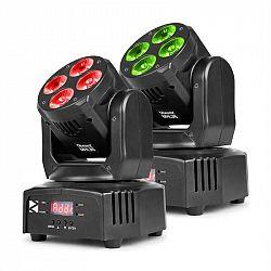 Beamz MHL36, movinghead, pohyblivá hlavica, LED efekt, 2 kusy, 4 x 9W, RGBW, 4v1 LED, 4 show, čierna farba