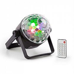 Beamz PLS35 DJ Jellyball, 4 x 3 W červené, zelené, modré a UV LED diódy, DMX alebo samostatná prevádzka