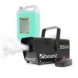 Beamz S500, výrobník hmly, s hmlovou tekutinou, 500 W, 50 m³/min.