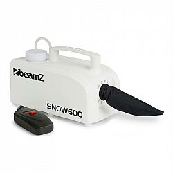 Beamz SNOW 600, 600 W, biely, snehostroj, 0,25 l nádrž, 5 m káblové diaľkové ovládanie
