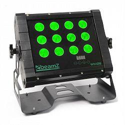 Beamz WH128 Wall Washer, 12 x 8W, čierna, Wall Washer, štvorité LED, IP65, DMX