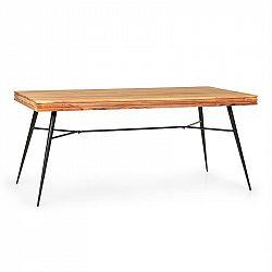 Besoa Vantor, jedálenský stôl, agátové drevo, železná kostra, 175 x 78 x 80 cm, drevo