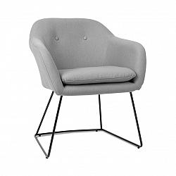 Besoa Zoe, čalúnená stolička, penová výplň, polyesterový poťah, oceľ, sivá melírovaná