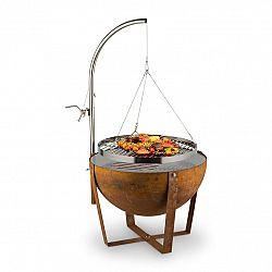Blumfeldt Blum Fire Globe, ohnisko s grilom, Ø60cm, oceľ