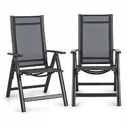 Blumfeldt Cádiz, skladacia stolička, sada 2 kusov, 59,5 x 107 x 68 cm, ComfortMesh, antracitová